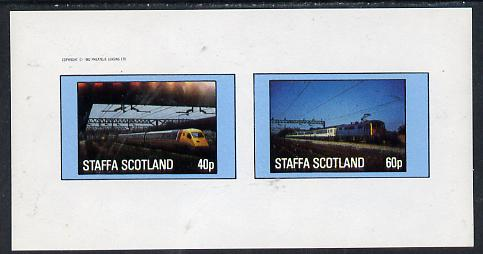 Staffa 1982 Modern Trains  imperf  set of 2 values (40p & 60p) unmounted mint