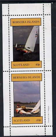 Bernera 1981 Yachts #1 perf  set of 2 values (40p & 60p) unmounted mint