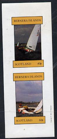 Bernera 1981 Yachts #1 imperf  set of 2 values (40p & 60p) unmounted mint
