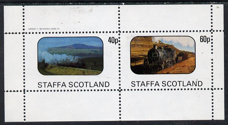 Staffa 1982 Steam Locos #07 perf  set of 2 values (40p & 60p) unmounted mint