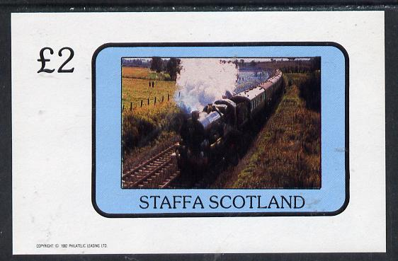Staffa 1982 Steam Locos #07 imperf deluxe sheet (�2 value) unmounted mint