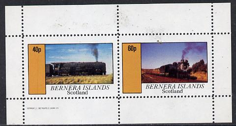 Bernera 1982 Steam Locos #09 perf  set of 2 values (40p & 60p) unmounted mint