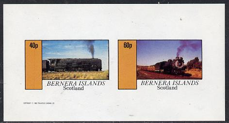 Bernera 1982 Steam Locos #09 imperf  set of 2 values (40p & 60p) unmounted mint