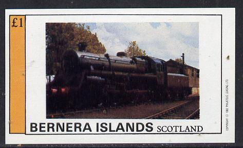 Bernera 1982 Steam Locos #09 imperf souvenir sheet (�1 value) unmounted mint