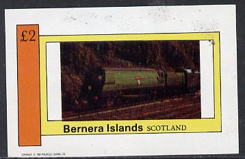 Bernera 1982 Steam Locos #09 imperf deluxe sheet (�2 value) unmounted mint