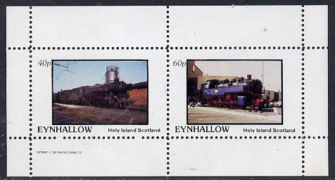 Eynhallow 1982 Steam Locos #14 perf  set of 2 values (40p & 60p) unmounted mint