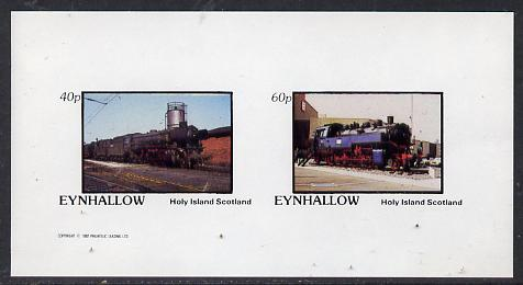 Eynhallow 1982 Steam Locos #14 imperf  set of 2 values (40p & 60p) unmounted mint