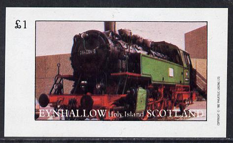 Eynhallow 1982 Steam Locos #14 imperf souvenir sheet (�1 value) unmounted mint