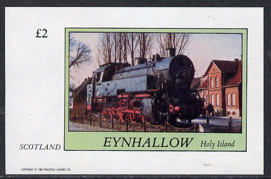 Eynhallow 1982 Steam Locos #14 imperf deluxe sheet (�2 value) unmounted mint