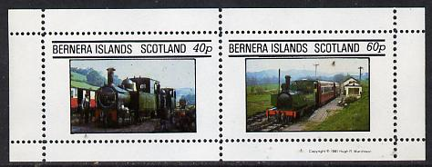 Bernera 1981 Steam Locos #01 perf  set of 2 values (40p & 60p) unmounted mint