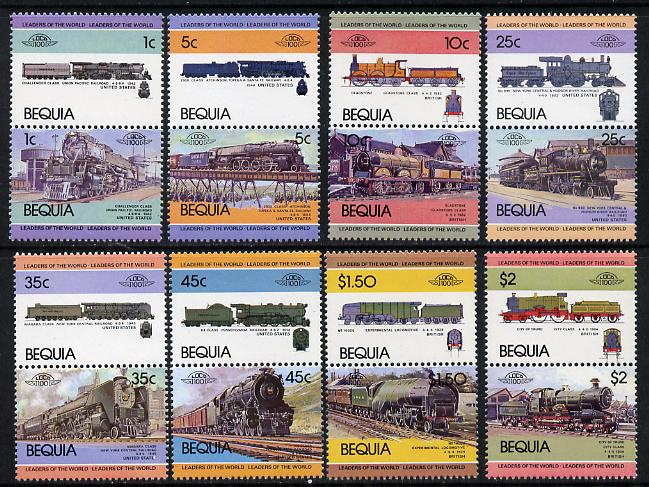 St Vincent - Bequia 1984 Locomotives #1 (Leaders of the World) set of 16 unmounted mint
