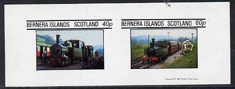 Bernera 1981 Steam Locos #01 imperf  set of 2 values (40p & 60p unmounted mint)