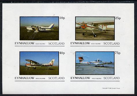 Eynhallow 1981 Light Aircraft #2 imperf  set of 4 values (10p to 75p) unmounted mint