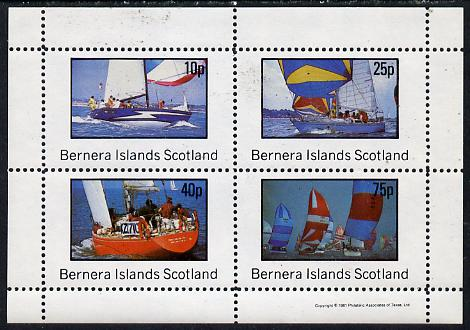 Bernera 1981 Yachts #2 perf  set of 4 values (10p to 75p) unmounted mint