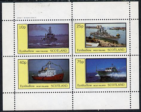 Eynhallow 1982 Warships #2 perf  set of 4 values (10p to 75p) unmounted mint