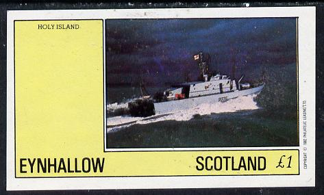 Eynhallow 1982 Warships #2 imperf souvenir sheet (�1 value) unmounted mint