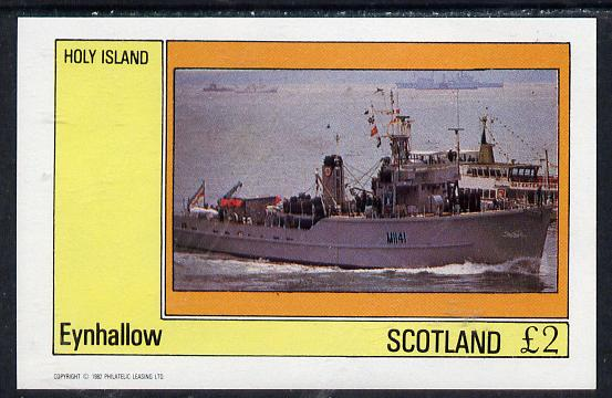 Eynhallow 1982 Warships #2 imperf deluxe sheet (�2 value) unmounted mint