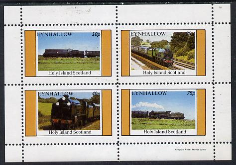 Eynhallow 1981 Steam Locos #04 perf  set of 4 values unmounted mint