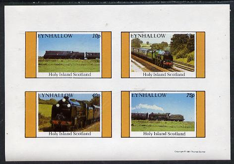 Eynhallow 1981 Steam Locos #04 imperf  set of 4 values unmounted mint