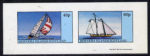 Bernera 1981 Yachts #3 imperf  set of 2 values (40p & 60p) unmounted mint