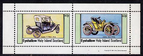 Eynhallow 1981 Cars #2 (Model 'T' Ford & Darracq) perf  set of 2 values (40p & 60p) unmounted mint