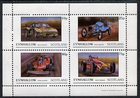 Eynhallow 1981 Racing Cars (Porche, Fiat, Ferrari & Alfa) perf  set of 4 values (10p to 75p) unmounted mint