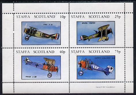 Staffa 1981 Bi-planes perf  set of 4 values (10p to 75p) unmounted mint