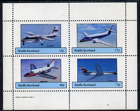 Staffa 1982 Aircraft #6 perf set of 4 values unmounted mint