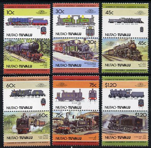 Tuvalu - Niutao 1985 Locomotives #2 (Leaders of the World) set of 12 unmounted mint