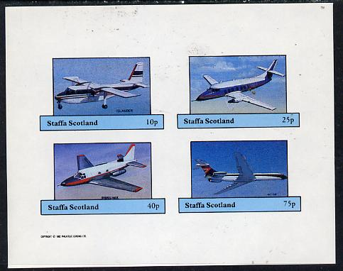 Staffa 1982 Aircraft #6 imperf set of 4 values unmounted mint