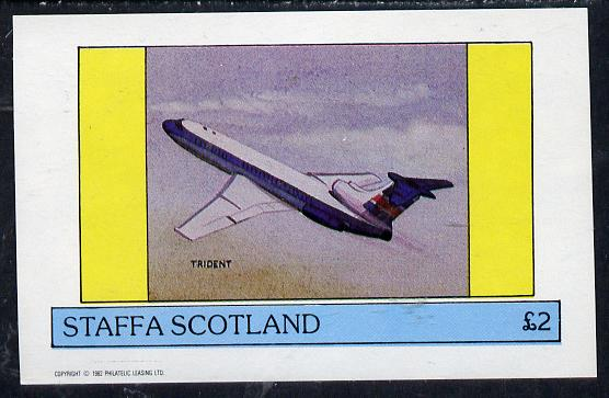 Staffa 1982 Aircraft #6 imperf deluxe sheet (�2 value) unmounted mint