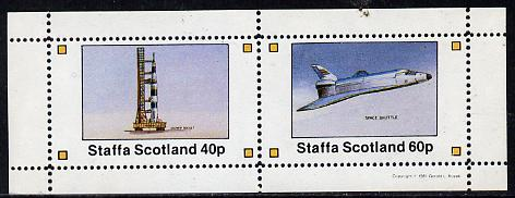 Staffa 1981 Space (Launch Rocket & Shuttle) perf  set of 2 values (40p & 60p) unmounted mint