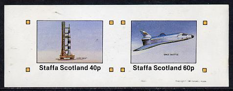 Staffa 1981 Space (Launch Rocket & Shuttle) imperf  set of 2 values (40p & 60p) unmounted mint