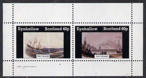 Eynhallow 1982 Paintings of Ships perf  set of 2 values (40p & 60p) unmounted mint