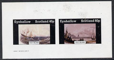 Eynhallow 1982 Paintings of Ships imperf  set of 2 values (40p & 60p) unmounted mint