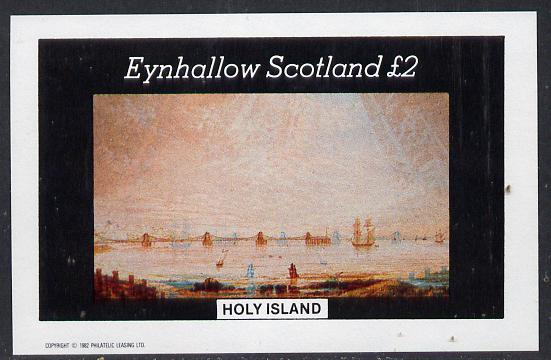 Eynhallow 1982 Paintings of Ships imperf deluxe sheet (�2 value) unmounted mint