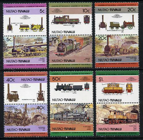 Tuvalu - Niutao 1984 Locomotives #1 (Leaders of the World) set of 12 unmounted mint