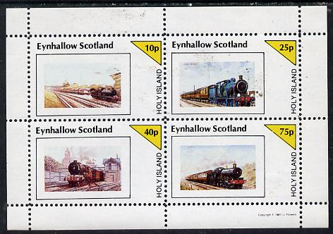Eynhallow 1981 Steam Locos #05 perf  set of 4 values unmounted mint