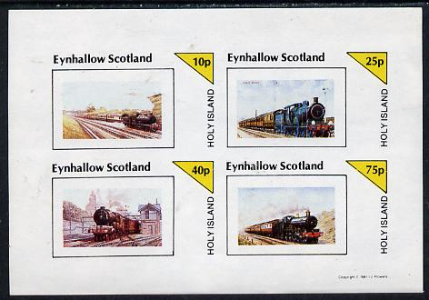 Eynhallow 1981 Steam Locos #05 imperf  set of 4 values unmounted mint