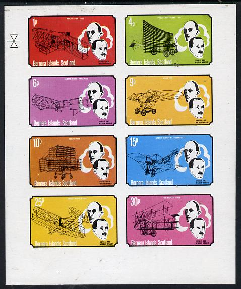 Bernera 1979 Flight Anniversary of Wright Brothers imperf  set of 8 values (1p to 30p) unmounted mint