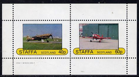 Staffa 1982 WW2 Aircraft #4 perf  set of 2 values unmounted mint