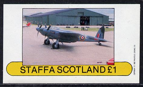 Staffa 1982 WW2 Aircraft #4 imperf souvenir sheet (�1 value) unmounted mint