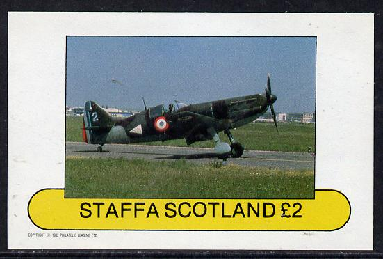 Staffa 1982 WW2 Aircraft #4 imperf deluxe sheet (�2 value) unmounted mint