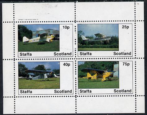 Staffa 1982 Light Aircraft #2 perf  set of 4 values unmounted mint