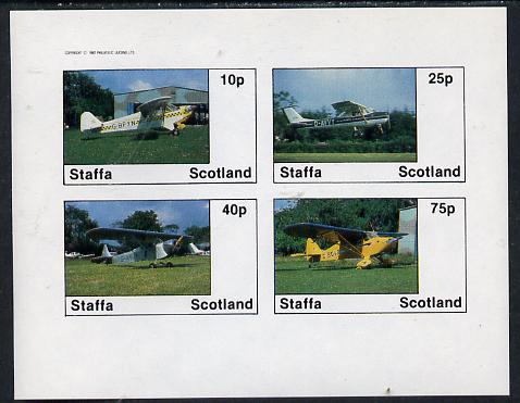 Staffa 1982 Light Aircraft #2 imperf  set of 4 values unmounted mint
