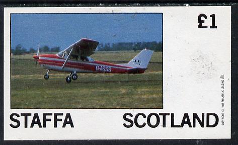 Staffa 1982 Light Aircraft #2 imperf souvenir sheet (�1 value) unmounted mint