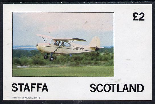 Staffa 1982 Light Aircraft #2 imperf deluxe sheet (�2 value) unmounted mint