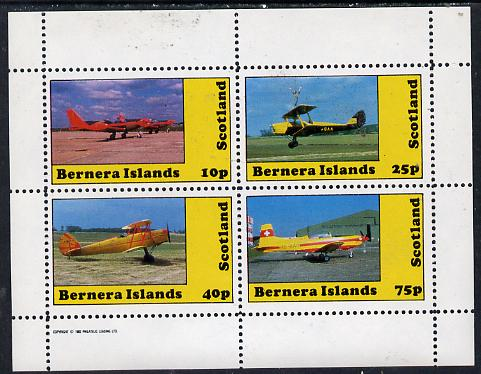 Bernera 1982 Aircraft #08 perf  set of 4 values (10p to 75p) unmounted mint