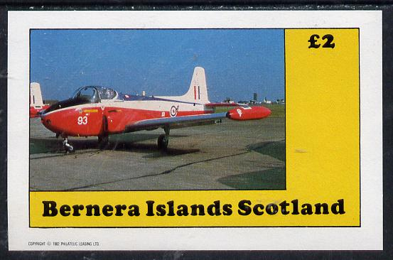 Bernera 1982 Aircraft #08 imperf deluxe sheet (�2 value) unmounted mint