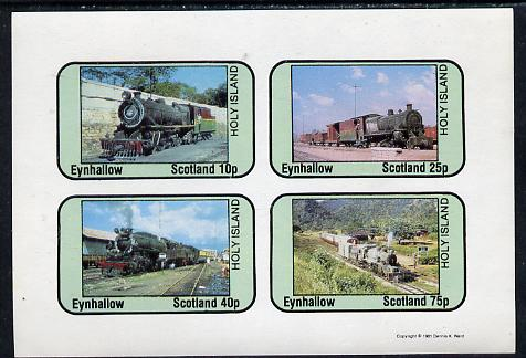 Eynhallow 1981 Steam Locos #06 imperf  set of 4 values unmounted mint